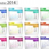 Calendar 2014 vector huge collection 102