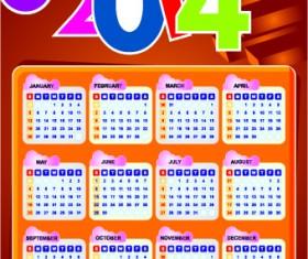 Calendar 2014 vector huge collection 116