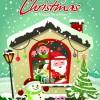 Vintage Cartoon santa background vector 05