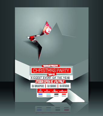 Christmas flyer cover design vector set 01 - Vector Christmas ...