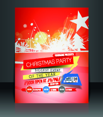 Christmas flyer cover design vector set 02 - Vector Christmas ...