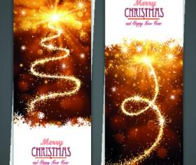 Shiny 2014 Merry Christmas banners design vector 01