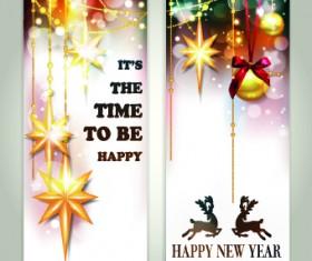 Shiny 2014 Merry Christmas banners design vector 04