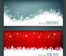 Shiny 2014 Merry Christmas banners design vector 05