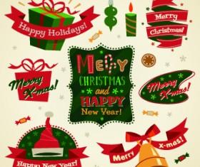2014 Christmas cute ornaments elements vector 01