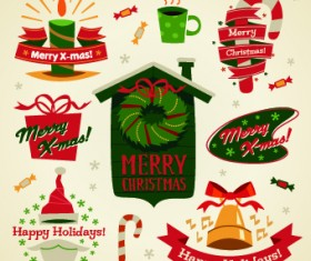 2014 Christmas cute ornaments elements vector 02