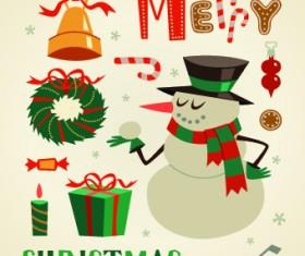 2014 Christmas cute ornaments elements vector 03