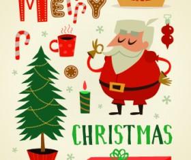 2014 Christmas cute ornaments elements vector 05