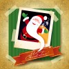 Christmas photo frame background vector 05