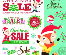 Christmas sales elements vector illustration