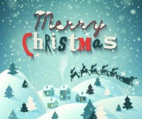 Christmas snow night vector background 03