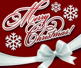 Christmas white bow background vector