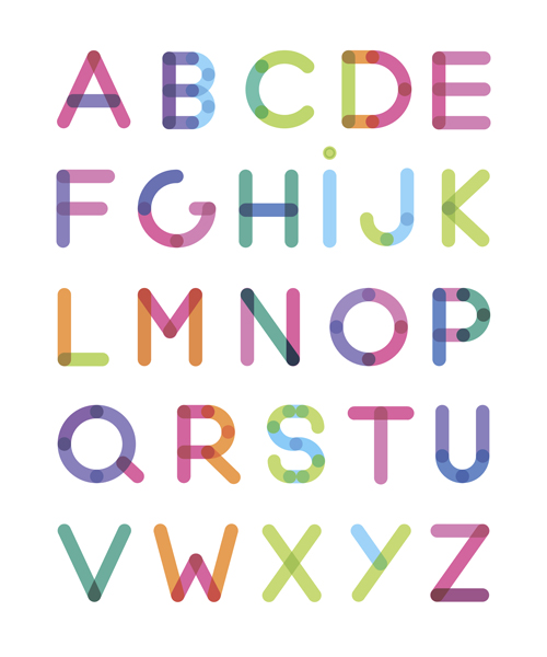 Creative alphabet letter designs