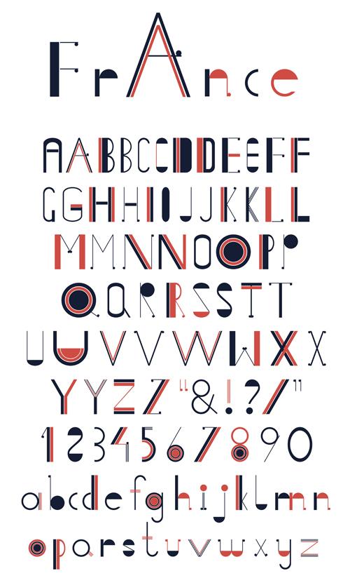 Creative Alphabets Design Vector Set 21 Free Download