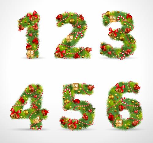 ... set 24 - Vector Christmas, Vector Festival, Vector Font free download