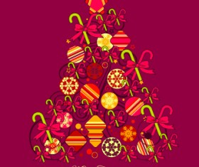 Creative Christmas tree baubles background