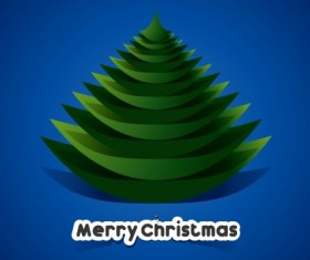 Creative Paper Christmas tree background vector 01