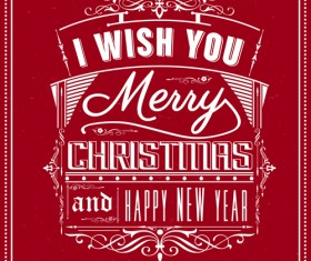 Creative Xmas red background graphics