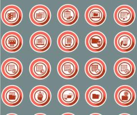 Documents icons design vectors