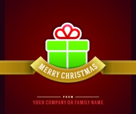Elegant Merry Christmas card vector graphics