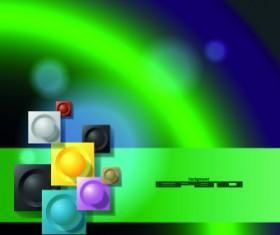 Fantasy green background vector