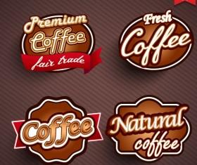 Natural Food label design vector 03