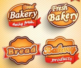 Natural Food label design vector 05