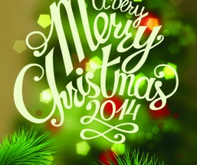 Halation 2014 Merry Christmas backgrounds vector 01