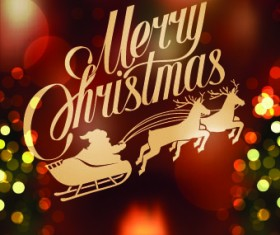 Halation 2014 Merry Christmas backgrounds vector 02