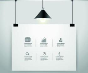 Hanging advertising board design vector 01