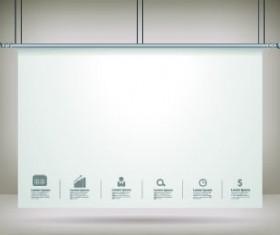 Hanging advertising board design vector 02