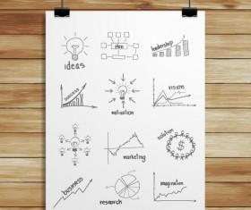 Hanging advertising board design vector 03