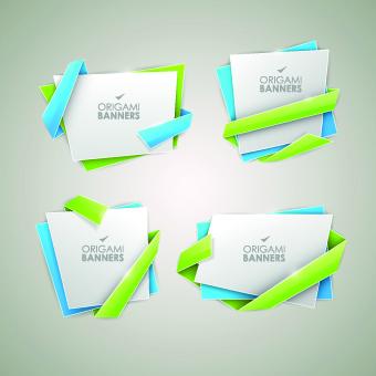 creative origami banner vector graphics 04 vector banner
