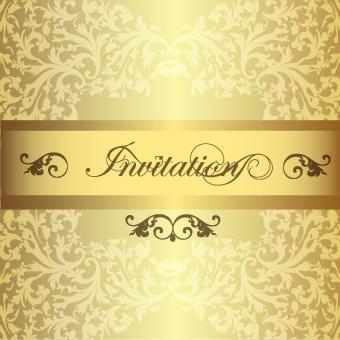 ornate invitation creative design background art 04