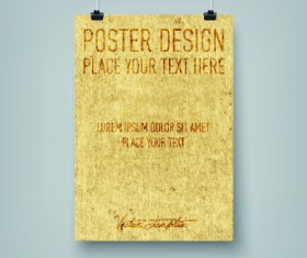 Vector hanging poster design graphics 04