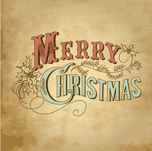 Retro Style Christmas background design 01 - Vector ...