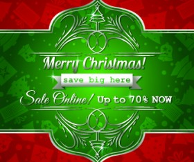 Christmas big sale creative design vector background set 10