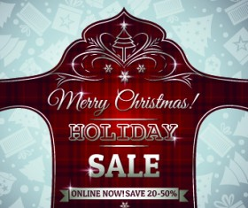 Christmas big sale creative design vector background set 02