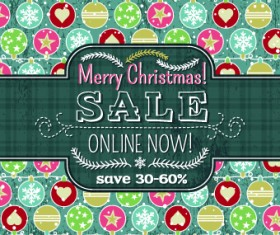 Christmas big sale creative design vector background set 03