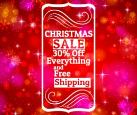 Christmas big sale creative design vector background set 04