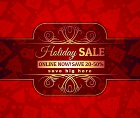 Christmas big sale creative design vector background set 06
