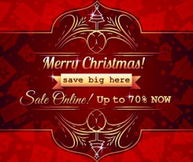 Christmas big sale creative design vector background set 07