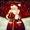 Santa golden glow christmas cards vector 04
