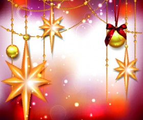 Shiny Christmas baubles design vector background 01