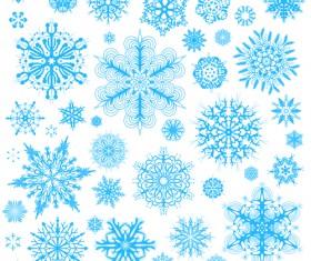 Different snowflakes pattern design vector set 02