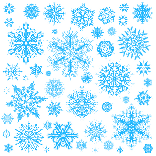 Different snowflakes pattern design vector set 02 - Vector Pattern ...