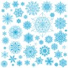 Different snowflakes pattern design vector set 04