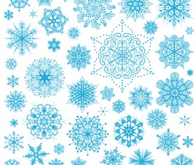Different snowflakes pattern design vector set 04