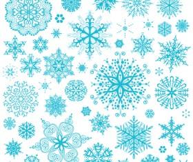Different snowflakes pattern design vector set 05