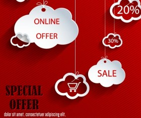 Special offer object design vector
